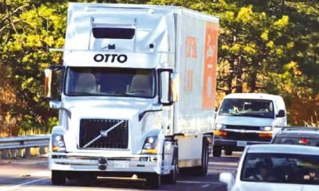 Première livraison par un camion sans chauffeur