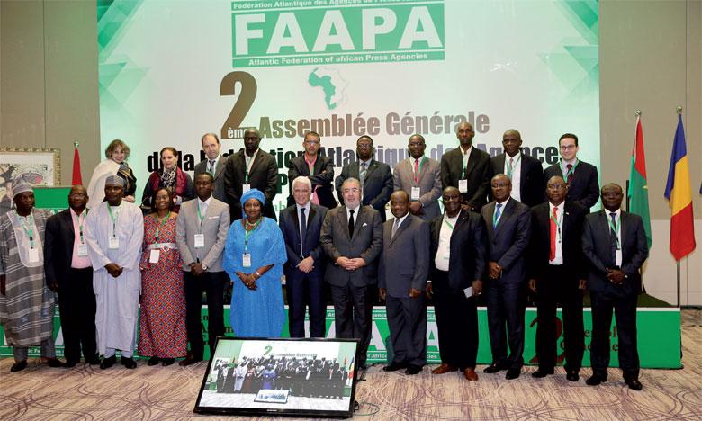 Les travaux de la deuxième assemblée générale de la Fédération atlantique des agences de presse africaines ont été marqués par l'adoption de la charte d'éthique.Ph. MAP