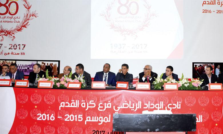 Le bureau dirigeant du Wydad de Casablanca compte restructurer le club, après avoir épongé les dettes. Ph. Seddik