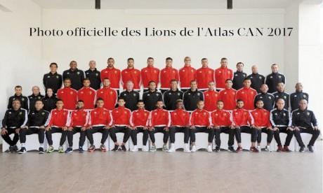 Composition officielle de l'équipe nationale face au RD Congo