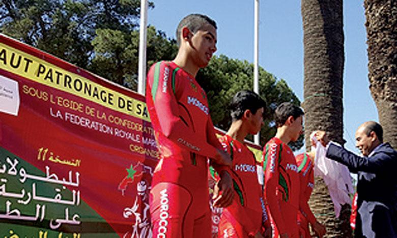La sélection nationale de cyclisme a décroché 21 médailles aux Championnats d'Afrique, dont 10 en or.