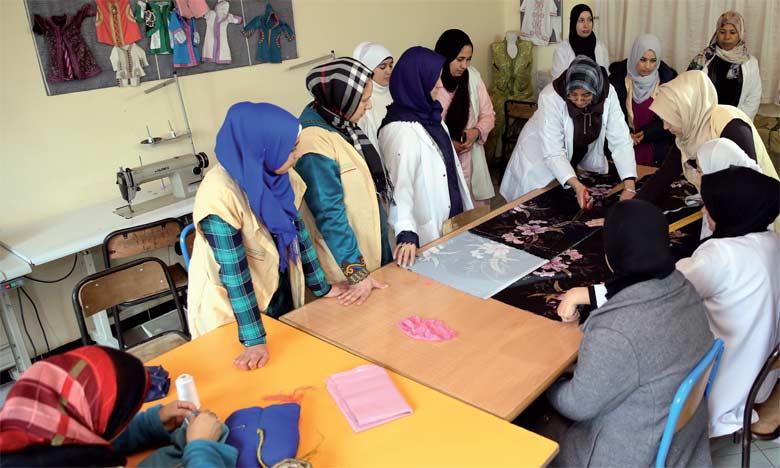 Le Centre de formation et de promotion de la situation des femmes, piloté par l'association «Tafiil Moubadarat» à Taza, est un des exemples réussis de l'INDH. Ph. MAP