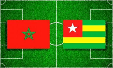 Le Maroc affrontera le Togo aujourd'hui à 19h00 GMT