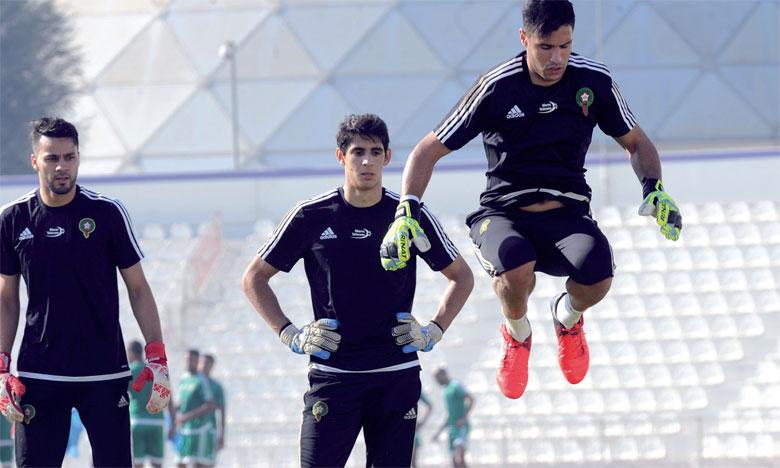 Munir Mohamedi (au premier plan) croit fermement aux chances du Maroc face à la Côte d'Ivoire.