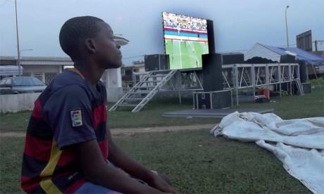 Les supporters gabonais ont quitté la Fan Zone d'Oyem après le but de l'égalisation de la Guinée-Bissau.