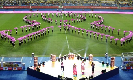 Vue de la cérémonie de clôture de la CAN 2017. Ph AFP