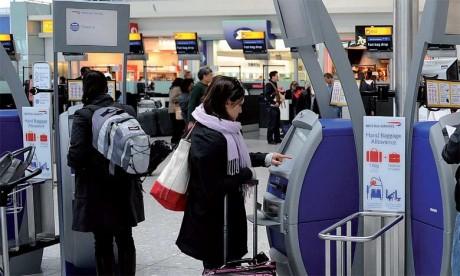 Londres-Heathrow est resté en tête du classement avec 75,7 millions de passagers (+1%), devant Paris-Charles de Gaulle (65,9 millions, +0,3%).                Ph. AFP