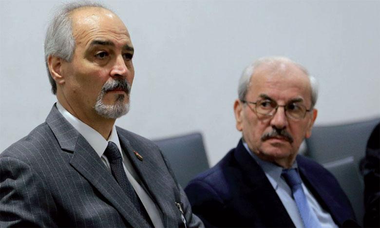 L'ambassadeur syrien à l'ONU, Bachar Al-Jaafari, lors des discussions de paix sur la Syrie, le 25 février2017 à Genève.              Ph. AFP