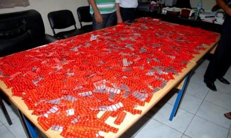 230.914 comprimés d'ecstasy saisis entre janvier-février 2017