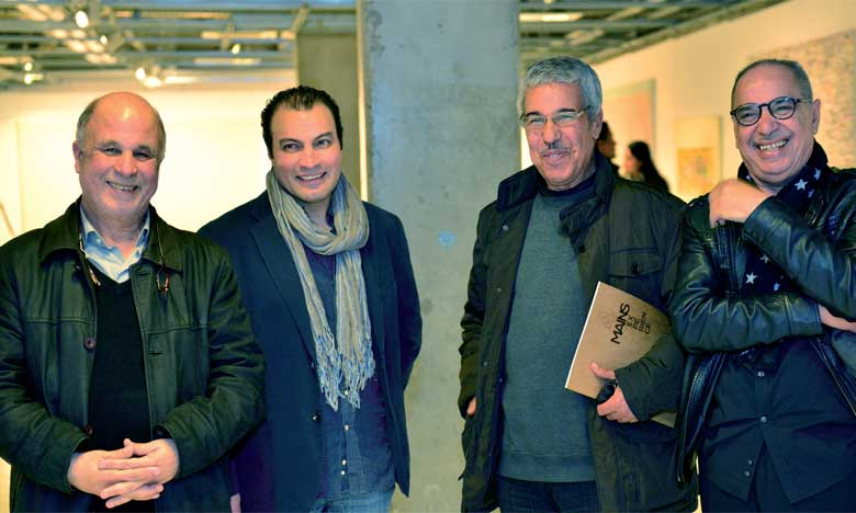 L'exposition réunit les artistes Mustapha Boujemaoui, Hassan Bourkia, Hakim Ghazali et Bouchta El Hayani.