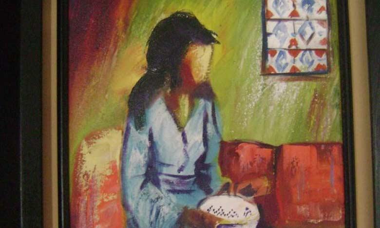 Une œuvre de l'artiste-peintre Najat El Baz.