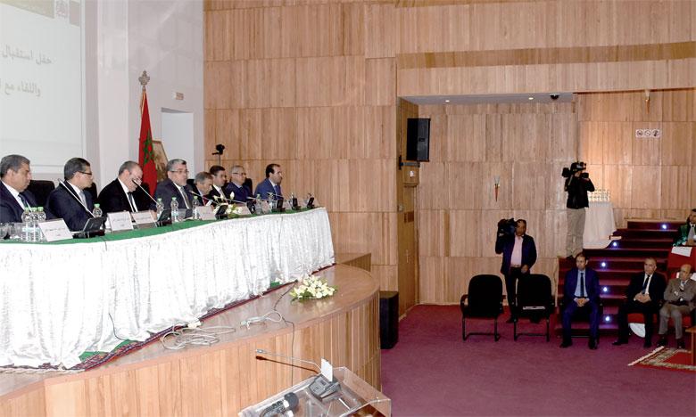Le ministre a saisi l'occasion pour mettre en avant les réalisations de son département. Ph. Kartouch