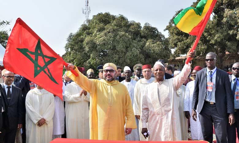 S.M. le Roi et le président guinéen donnent le coup d'envoi des travaux de construction d'une nouvelle mosquée à Conakry