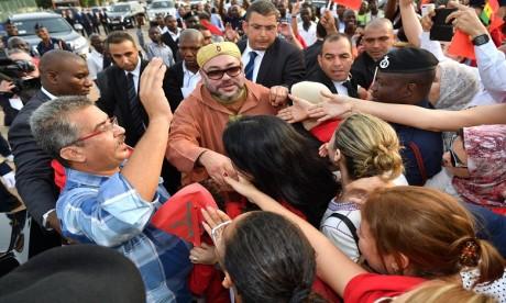 Arrivée de S.M. le Roi Mohammed VI à Accra pour une visite officielle en République du Ghana