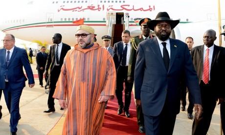 Arrivée de S.M. le Roi à Juba pour une visite officielle en République du Soudan du Sud