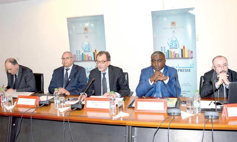 La conférence de presse de présentation du 23e SIEL a eu lieu lundi dernier à Rabat, en présence notamment de l'ambassadeur du Gabon, Abdu Razzaq Guy Kambogo, et du ministre de la Culture, Mohamed Amine Sbihi.