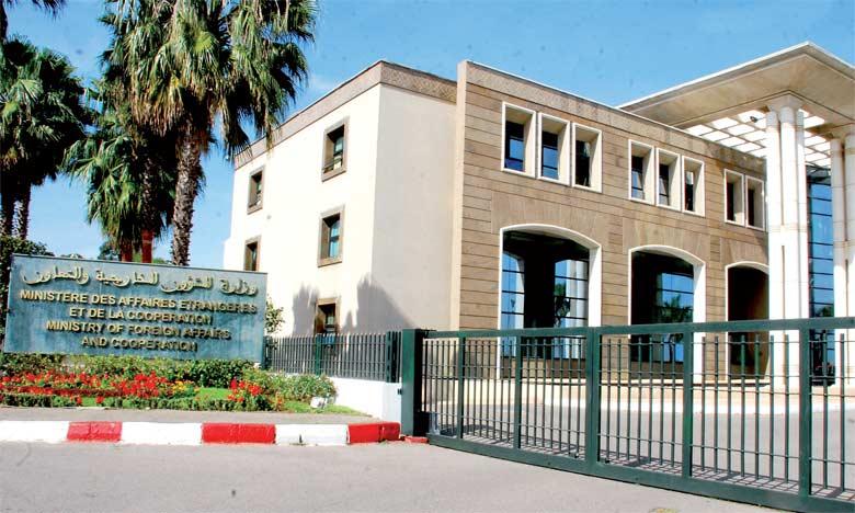 Siège du ministère des Affaires étrangères et de la coopération à Rabat.