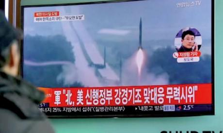 Tokyo et Washington dénoncent le tir d'un missile  en direction de la mer de Corée
