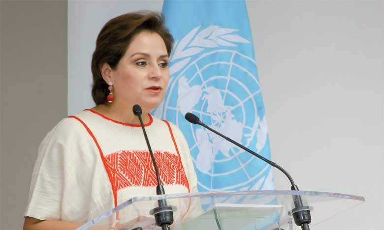 La secrétaire exécutive de la Convention-Cadre des Nations unies sur les changements climatiques, Patricia Espinosa.