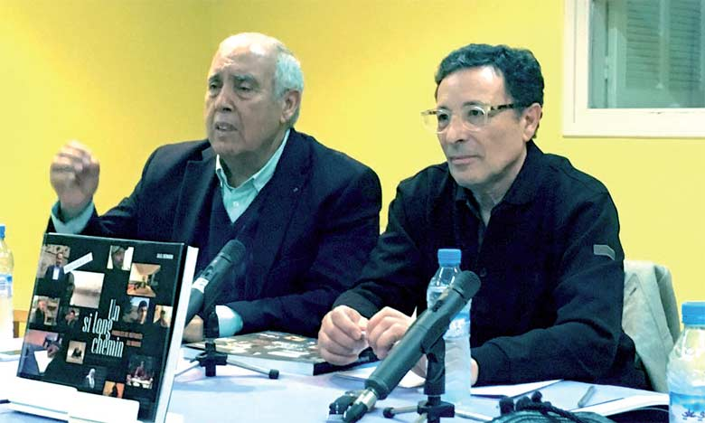 Abdelkader Retnani  et Jalil Bennani lors de la présentation du livre de ce dernier.