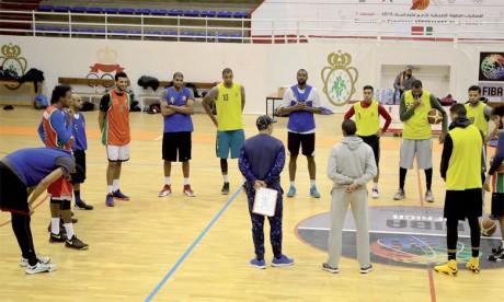 La sélection nationale en stage  de préparation