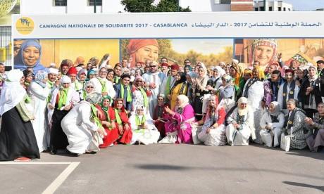 S.M. le Roi lance à Casablanca la Campagne nationale de solidarité 2017, sous le thème  «Soutien des coopératives féminines, pour une production sociale et solidaire durable»
