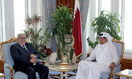 L'Émir de l'État du Qatar, S.A. Cheikh Tamim Bin Hamad Al Thani reçoit Abdelilah Benkirane