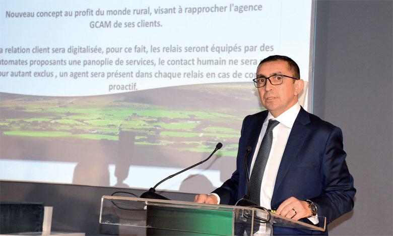 Abdelmounaïm Dinia, directeur général adjoint chargé du domaine support au Groupe Crédit Agricole du Maroc.                    Ph. Saouri