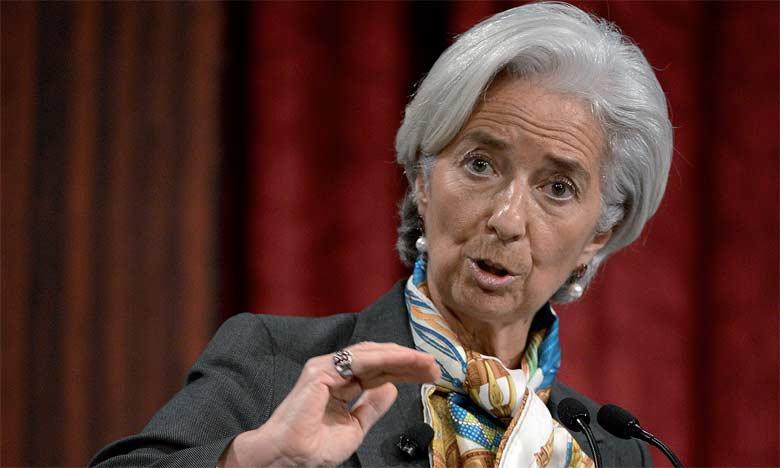 La directrice générale du FMI, Christine Lagarde, a appelé de nouveau les Européens à alléger la dette de la Grèce.