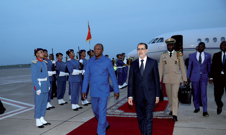 Arrivée à Fès du président guinéen pour participer aux 9es Assises de l'agriculture