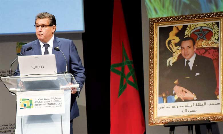 Le ministre a rappelé les différents projets lancés par le Maroc pour généraliser l'irrigation raisonnée. Ph. Saouri