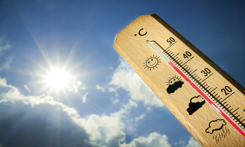 Vague de chaleur, avec des températures oscillant entre 36 et 44 degrés