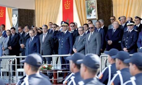 Décoration de Wissams royaux de  plusieurs responsables, fonctionnaires  et agents de la DGSN partis à la retraite