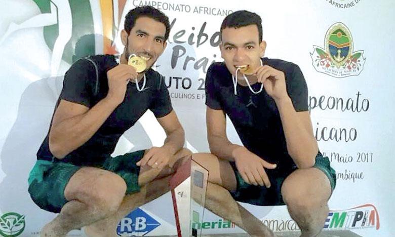 Le duo Zouhair El Graoui et Mohamed Abicha.