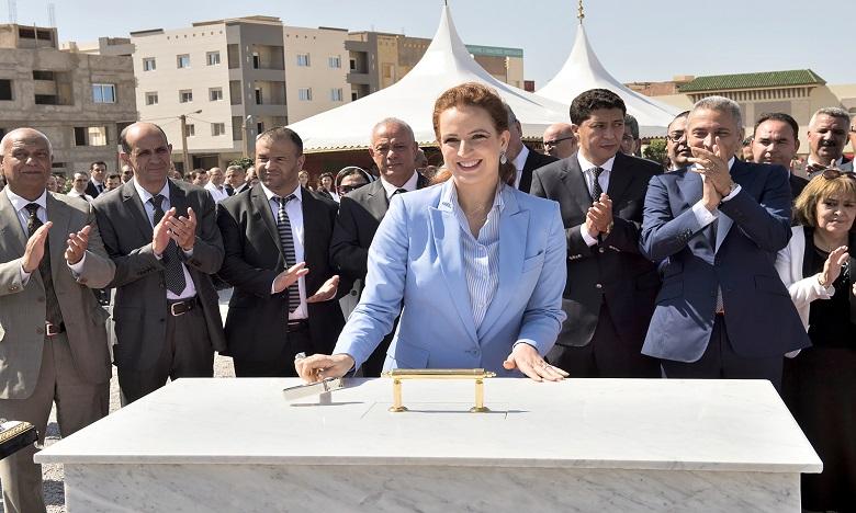 Son Altesse Royale la Princesse Lalla Salma pose la première pierre du centre régional d'oncologie d'Oujda