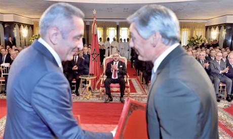 27 septembre 2016: S.M. le Roi Mohammed VI a présidé, à Tanger, la cérémonie de signature du protocole d'accord  pour la création d'un écosystème industriel de Boeing au Maroc. Ph. MAP