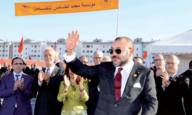 19 décembre 2016: S.M. le Roi Mohammed VI a procédé, à Casablanca, au lancement des travaux de construction du «Centre médical de proximité - Fondation Mohammed V pour la Solidarité», pour un investissement global de 37 millions de dirhams. Ph. MAP