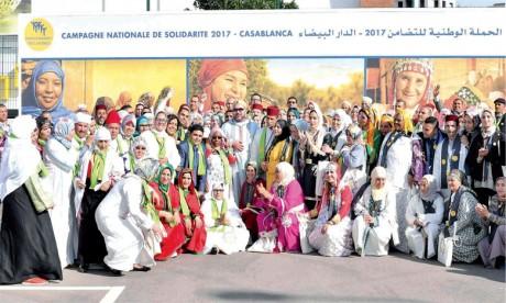 15 mars 2017: S.M. le Roi Mohammed VI a procédé, à Casablanca, au lancement de la Campagne nationale de solidarité 2017, une Initiative royale devenue une constante de la vie sociale du Royaume et une étape incontournable qui, chaque année, fédère l
