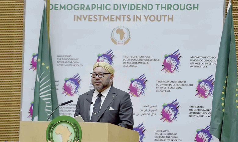 31 janvier 2017: S.M. le Roi Mohammed VI a prononcé un discours historique devant le 28e Sommet de l'Union  africaine à Addis-Abeba.Ph. MAP