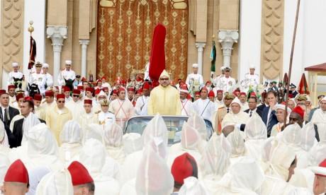 31 juillet 2016: S.M. le Roi Mohammed VI, accompagné de S.A.R. le Prince Héritier Moulay El Hassan, de S.A.R. le Prince Moulay Rachid, et de S.A.  le Prince Moulay Ismail, a présidé, à la place du Mechouar du Palais Royal de Tétouan, la cérémonie d'