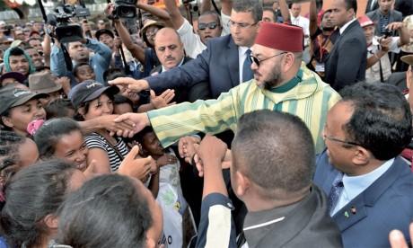 23 novembre 2016: S.M. le Roi Mohammed VI est arrivé à Antsirabe où le Souverain a été accueilli par le président de la République de Madagascar, M. Hery Rajaonarimampianina. Ph. MAP