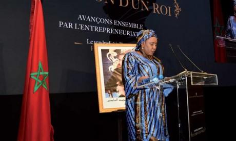 Sanaba Kaba, ministre de l'Action sociale, Guinée