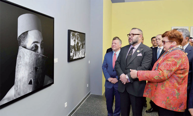 23 mars 2017: S.M. le Roi Mohammed VI et le Souverain du Royaume Hachémite de Jordanie, S.M. le Roi Abdallah II Ibn Al Hussein, ont inauguré, au Musée Mohammed VI d'art moderne et contemporain à Rabat, la manifestation culturelle et artistique «L'Af