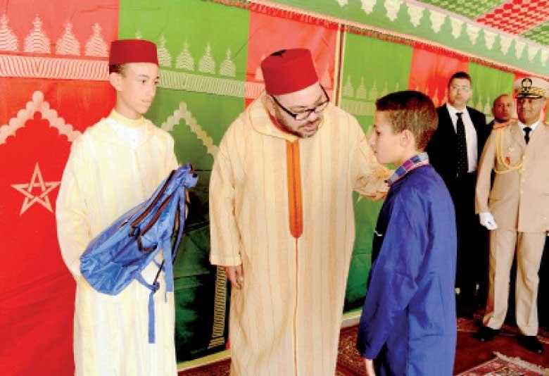 23 septembre 2016: S.M. le Roi Mohammed VI a donné, à Tanger, le coup d'envoi officiel de la rentrée scolaire 2016-2017.