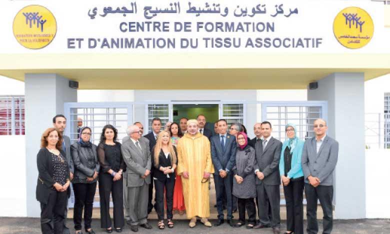 29 juin 2015: S.M. le Roi Mohammed VI a inauguré, à Casablanca, un centre de formation et d'animation du tissu associatif.
