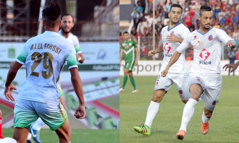 En match de la 1ère journée de Botola Maroc Telecom D1 de football, le DHJ et le CAK se sont quittés sur un nul vierge, au Stade El Abdi. Ph : Seddik