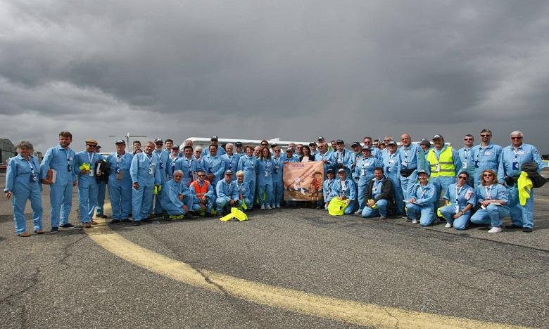 Les membres de l'équipage du raid Latécoère-Aéropostale. Ph. DR