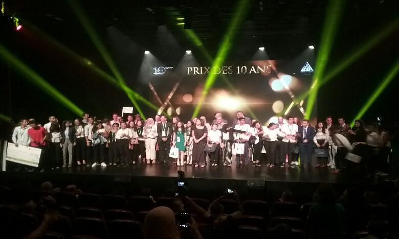 Injaz Al Maghrib a marqué la cérémonie de son dixième anniversaire par la distribution des prix de la Meilleure Junior Entreprise. Ph. M.S.
