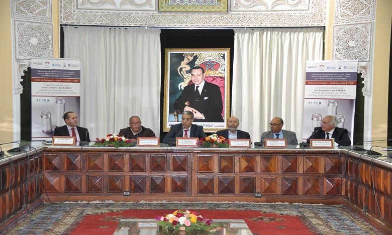 La convention a été signée en présence du ministre de l'Energie, des Mines et du Développement durable, Aziz Rabbah. Ph. AICPRESS