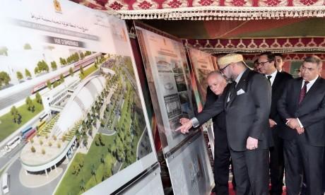 Sa Majesté le Roi Mohammed VI lance les travaux de construction de la nouvelle gare routière de Rabat